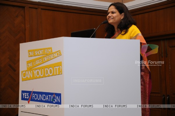 Prerana Langa, CEO of YES Foundation addressing the audience