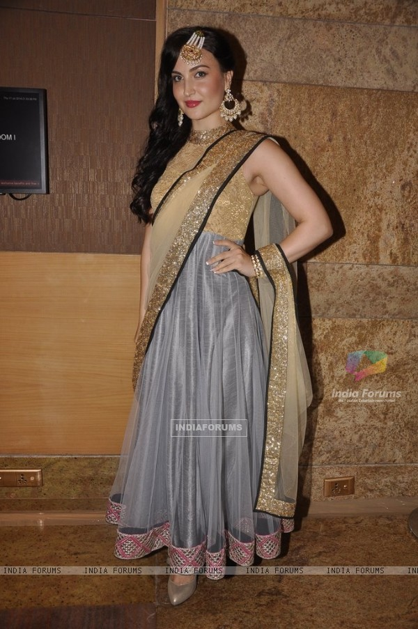 Elli Avram was seen at the India International Jewellery Week (IIJW) 2014 - Grand Finale