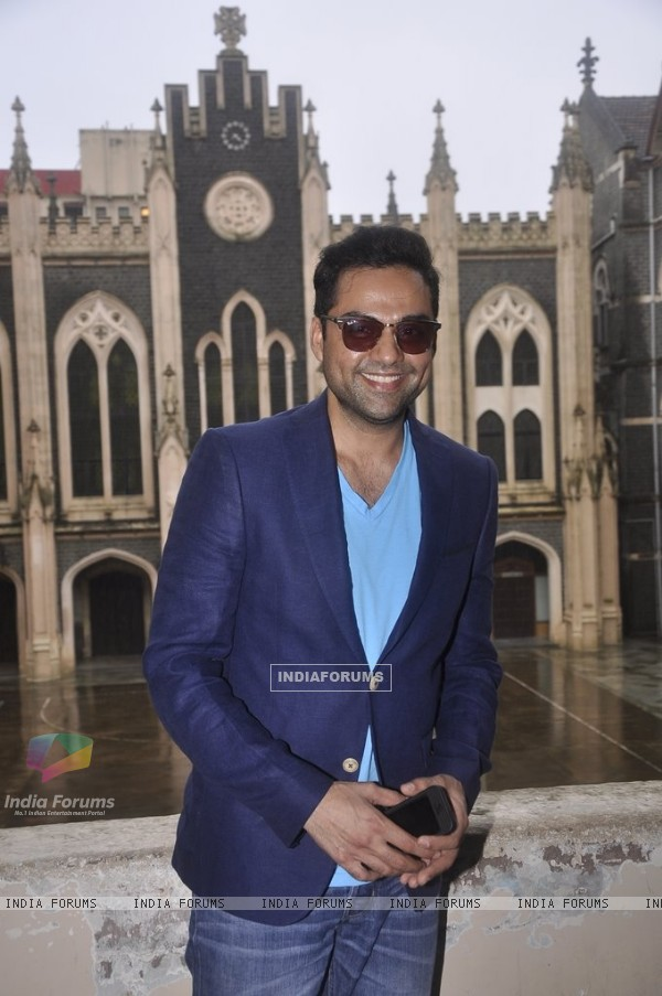Abhay Deol gives a smiling pose for the camera