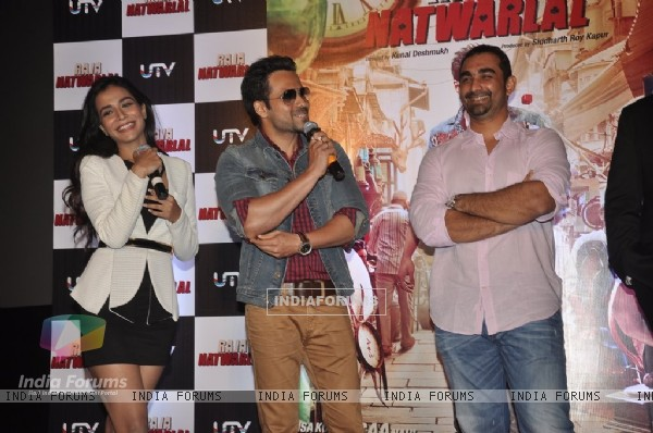 Humaima Malik ,Emraan Hashmi and Kunal Deshmukh at the Trailer Launch of Raja Natwarlal