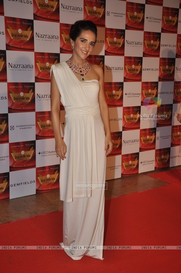 Tara Sharma was at the Retail Jeweller India Awards 2014