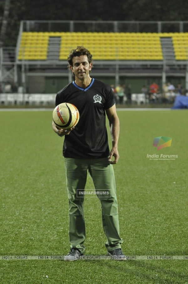 Hrithik Roshan at Charity Football Match