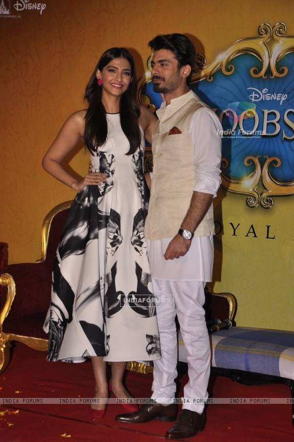 Fawad Khan and Sonam Kapoor were seen at the Trailer Launch of Khoobsurat