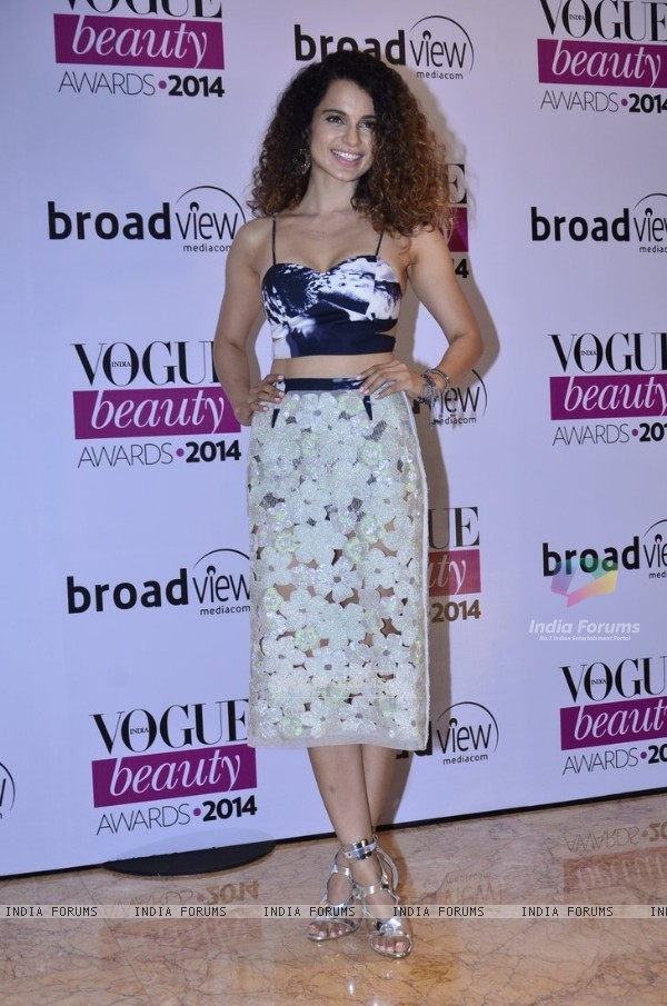 Kangana Ranaut was at Vogue Beauty Awards