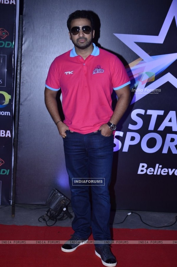 Raj Kundra at Pro Kabbadi League