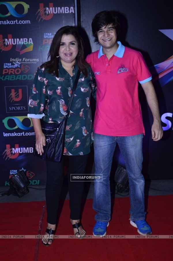 Farah Khan and Vivaan Shah were at Pro Kabbadi League