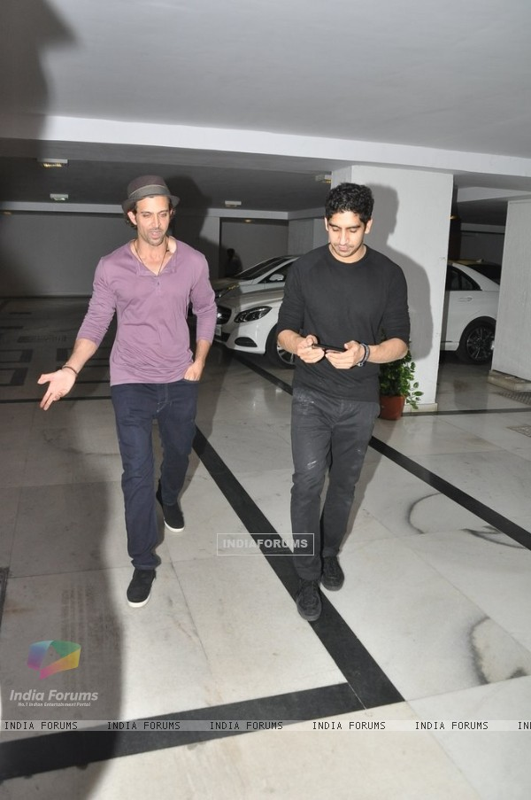 Hrithik Roshan and Ayan Mukerji were at Karan Johar's Private Party
