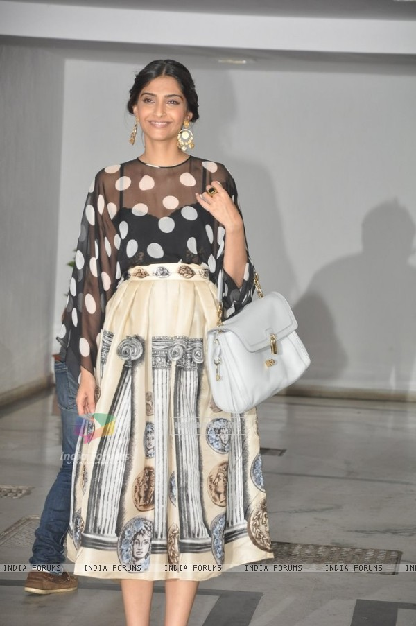 Sonam Kapoor was spotted at Karan Johar's Private Party