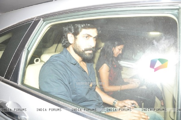 Rana Daggubati was spotted at Karan Johar's Private Party