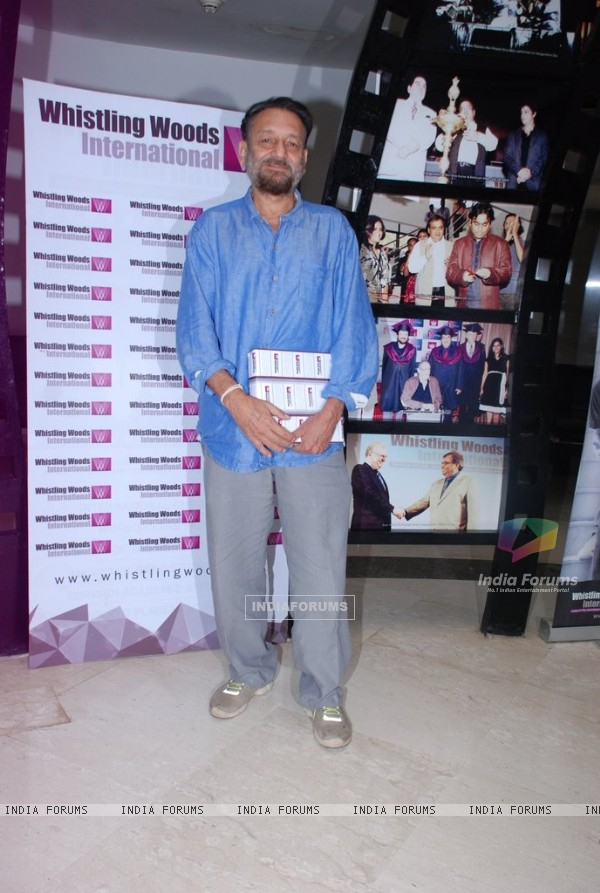 Shekar Kapoor poses for the camrea at Whistling Woods