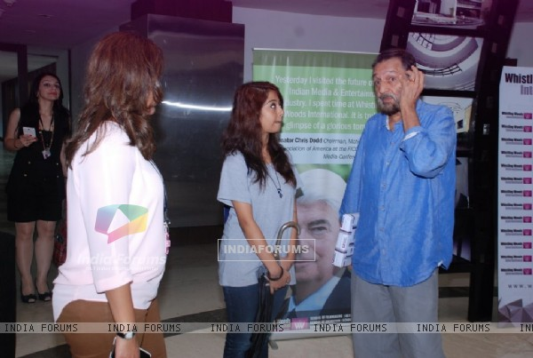 Shekar Kapoor interacts with the students at Whistling Woods