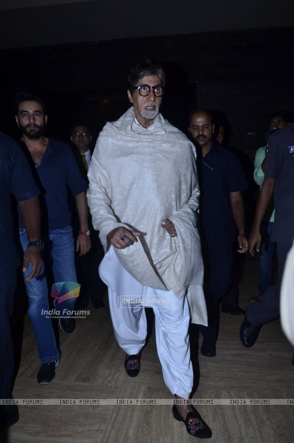 Amitabh Bachchan arrives at the launch of Shekhar Ravjiani's Hanuman Chalisa Album