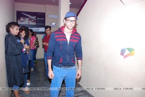 Hrithik Roshan poses for the media at PVR