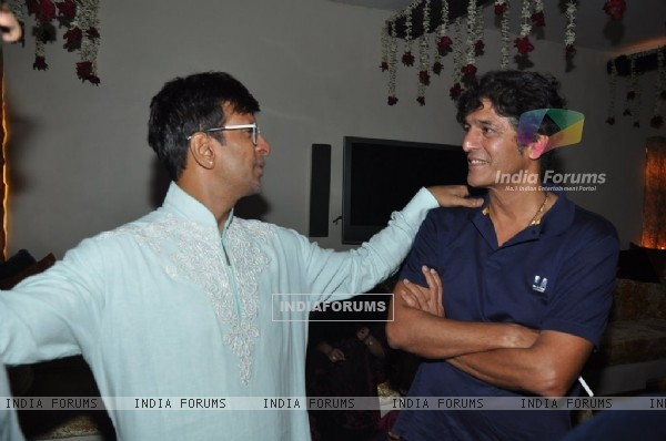 Javed Jaffrey with Chunky Pandey