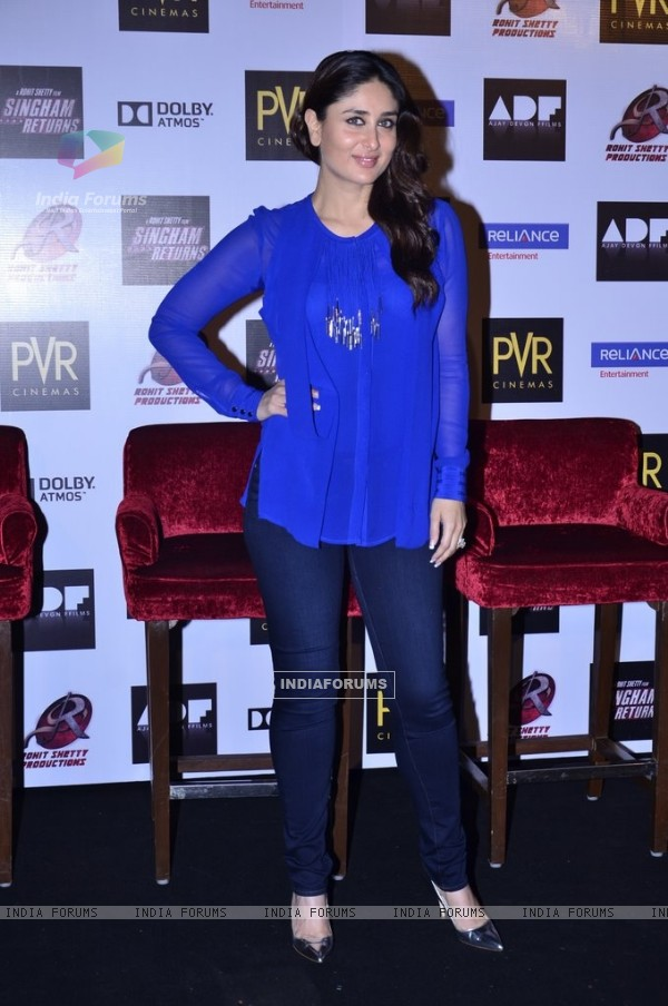Kareena Kapoor at Singham Returns Merchandise Launch