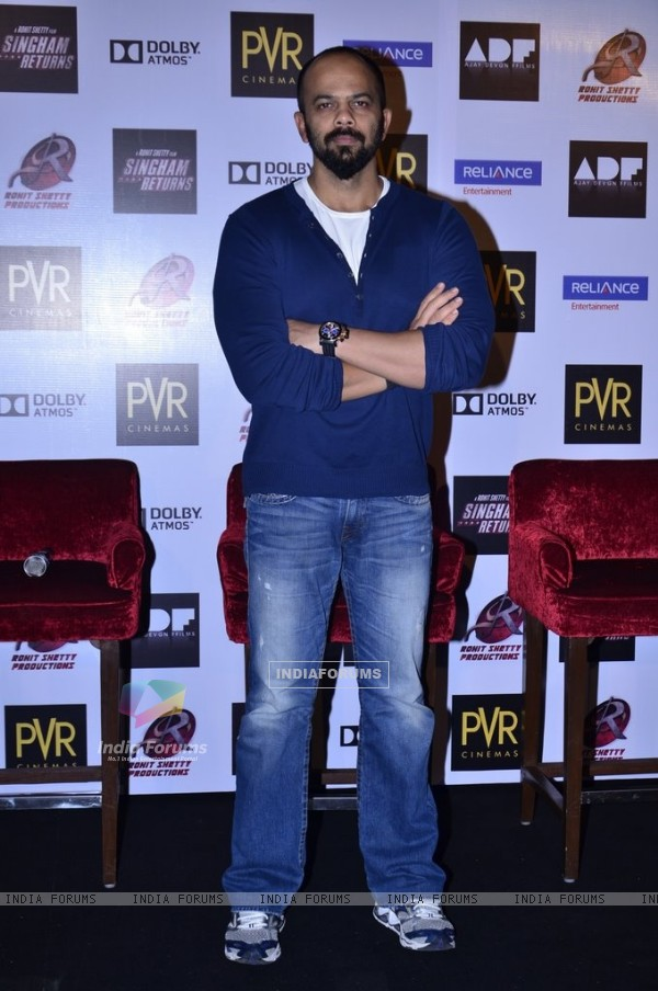 Rohit Shetty was seen at Singham Returns Merchandise Launch