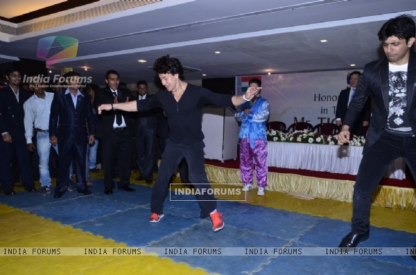 Tiger Shroff shakes a leg to the music beats at the Kukkiwon Award Ceremony