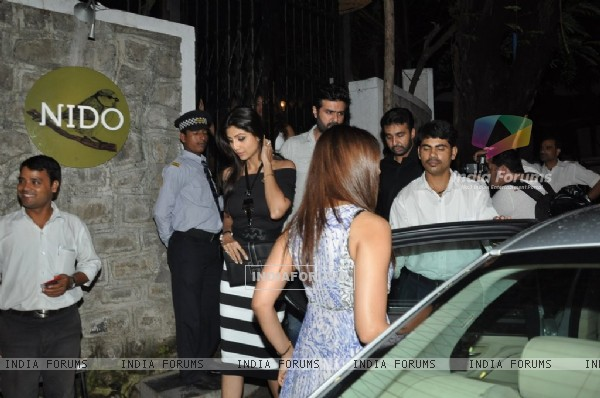 Bipasha Basu was spotted getting into her car at Nido