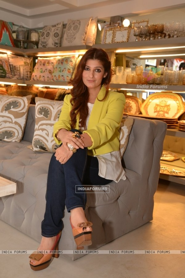 Twinkle Khanna poses beautifully for the camera at The White Window