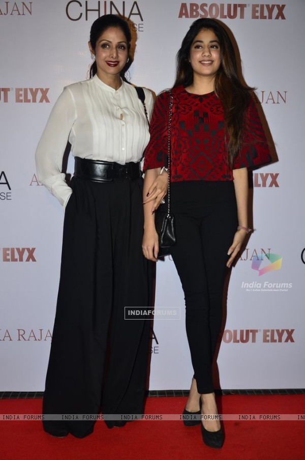 Sridevi with daughter Jahnavi Kapoor at Gallerie Angel Arts Event