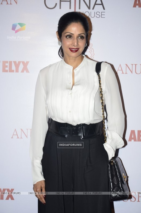Sridevi Kapoor poses for the media at Gallerie Angel Arts Event