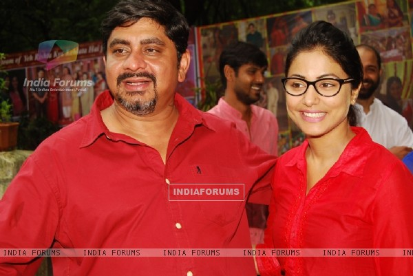 Rajan Shahi and Hina Khan at the celebration