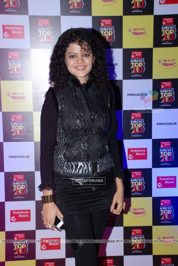 Palak Muchhal at the Mirchi Top 20 Awards