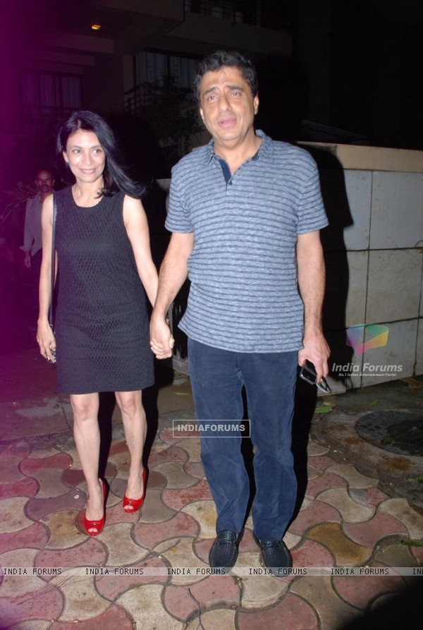 Ronnie Screwvala with his wife at Siddharth Roy Kapur's Birthday Day Bash