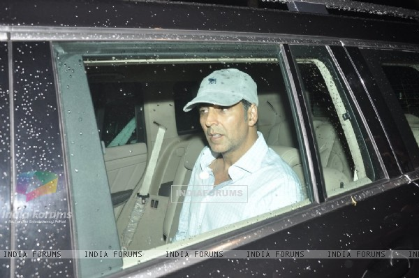 Akshay Kumar was snapped in his car at PVR