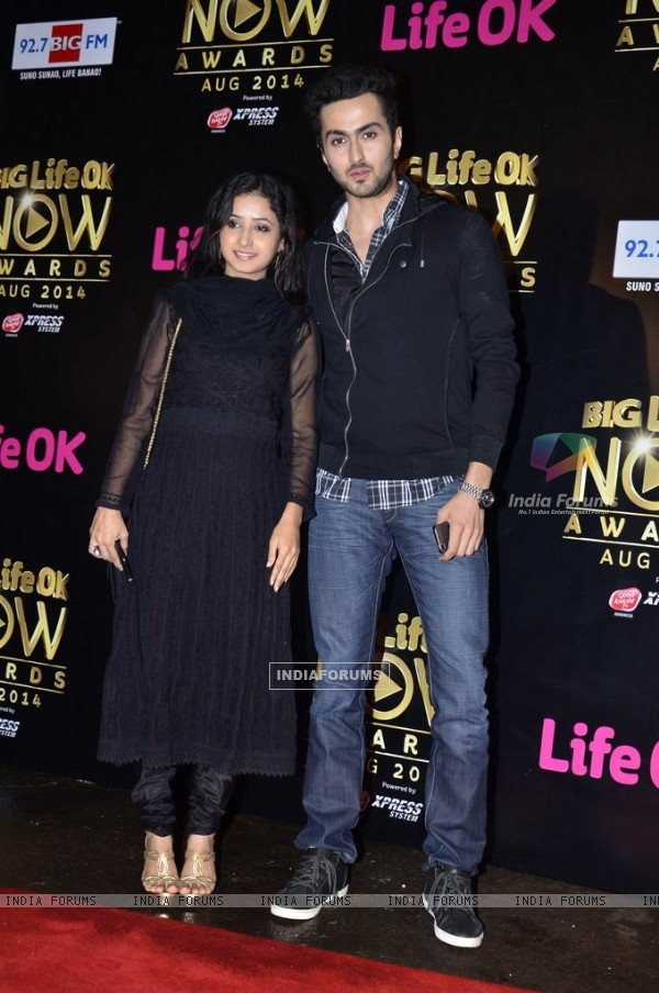 Sana Amin Sheikh and Vibhav Roy were at Life Ok Now Awards