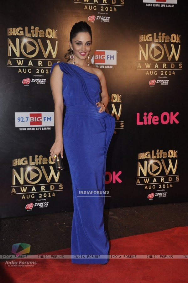Kiara Advani was seen at the Life Ok Now Awards