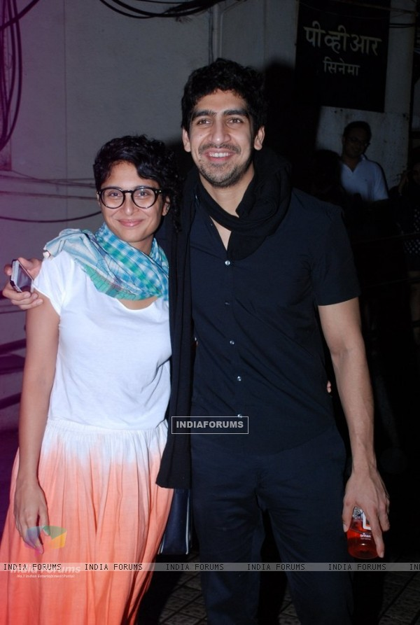 Kiran Rao and Ayan Mukerji pose for the media at PVR