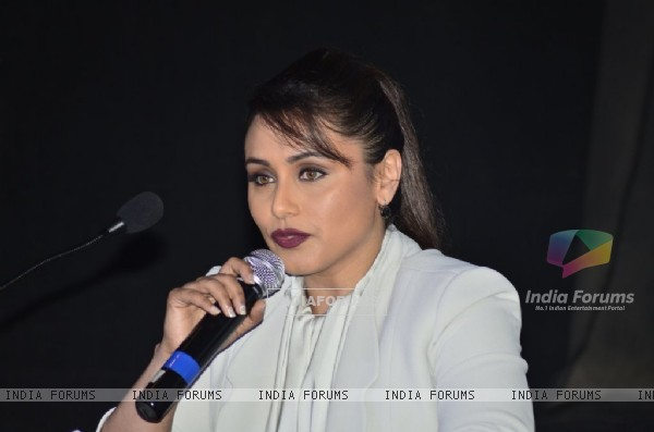 Rani Mukherjee addresses the media at the Launch of Mardaani Anthem