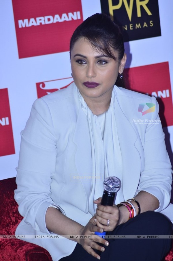 Rani Mukherjee at the Launch of Mardaani Anthem