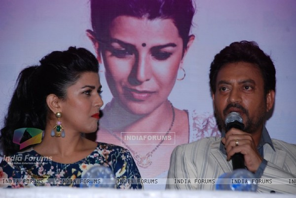 Irrfan Khan was seen interacting with the audience at the DVD Launch of Lunchbox
