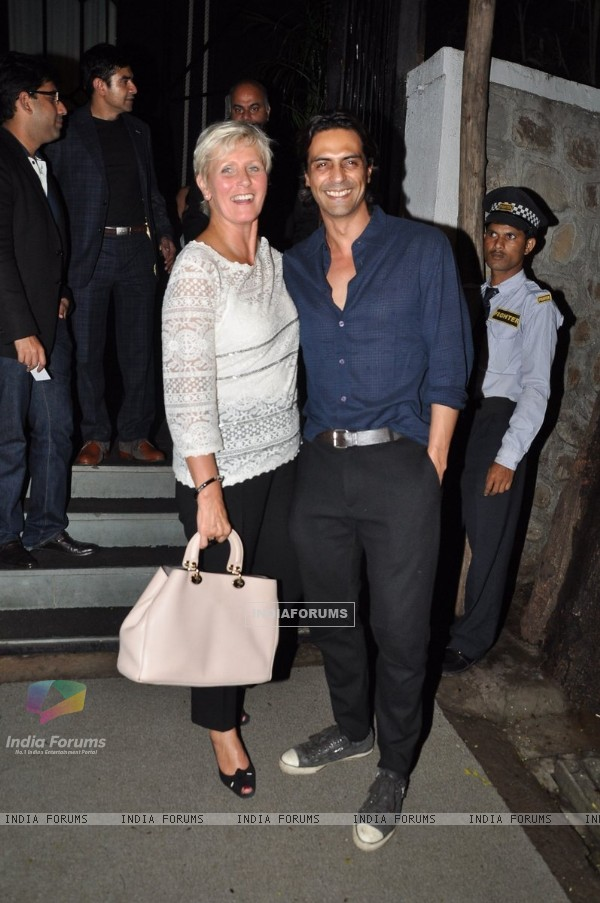 Arjun Rampal poses with a friend at Nido