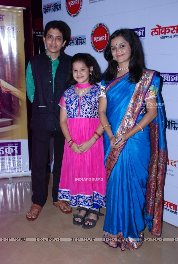 Alok Rajwade, Shruti Karlekar and Parna Pethe were at the Premier of Marathi Movie Ram Madhav