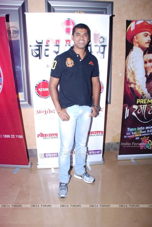 Siddharth Jadhav was at the Premier of Marathi Movie Ram Madhav
