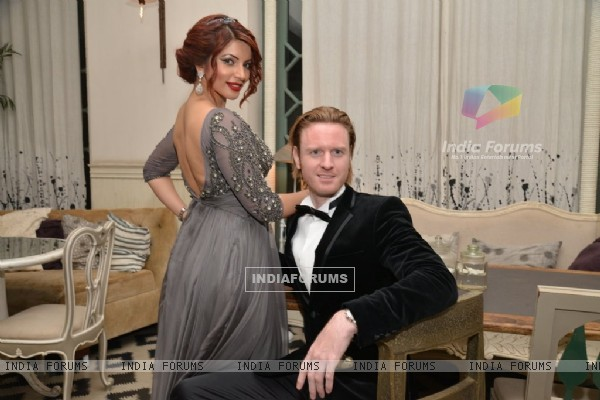 Alex O Neil and Shama Sikander at Birthday Bash