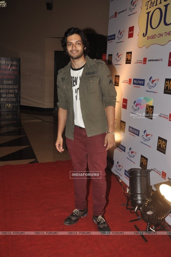 Ali Fazal at the Premiere of 100 Foot Journey hosted by Om Puri