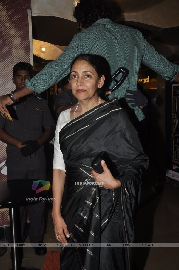 Deepti Naval at the Premiere of 100 Foot Journey hosted by Om Puri