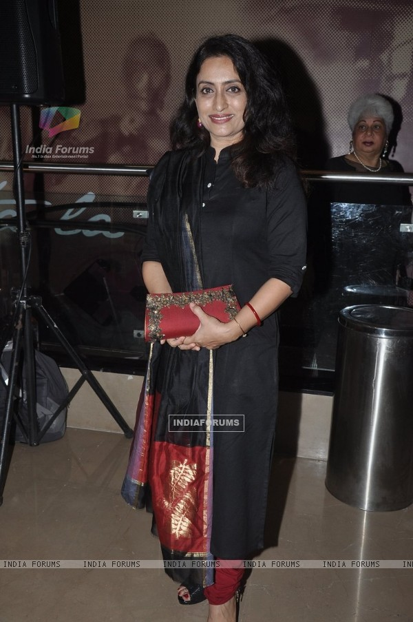 Navni Parihar was seen at the Premiere of 100 Foot Journey hosted by Om Puri