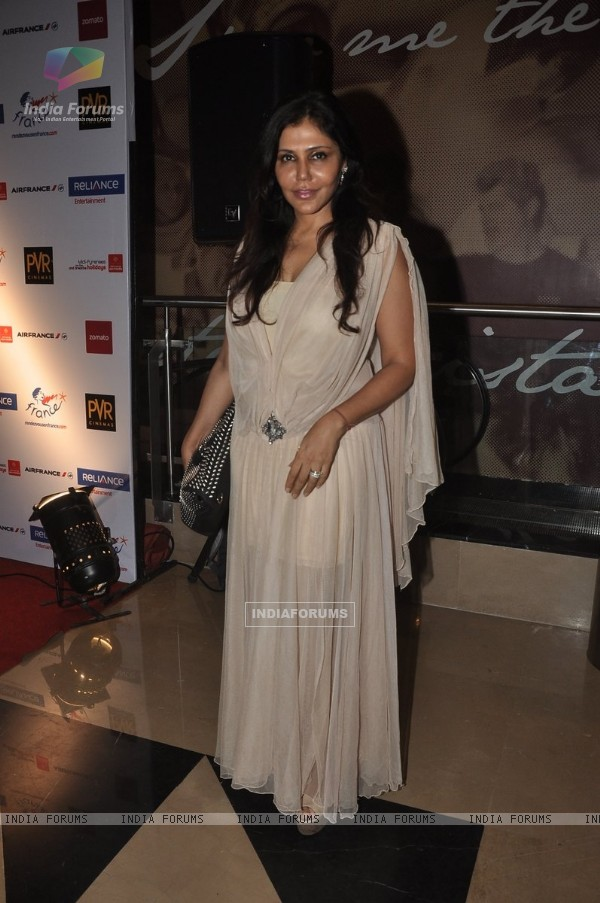 Nisha Jamwal was at the Premiere of 100 Foot Journey hosted by Om Puri