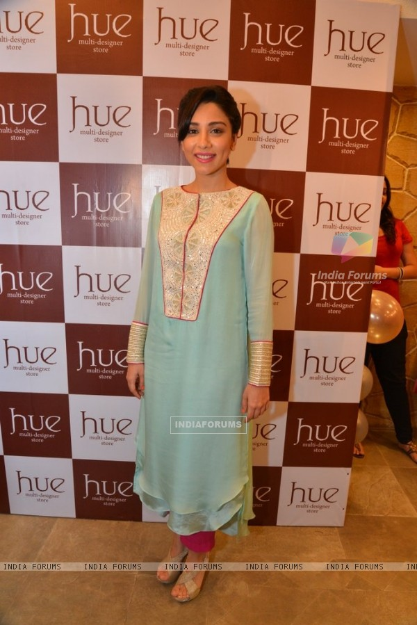 Amrita Puri poses for the media at the Preview at Hue Store