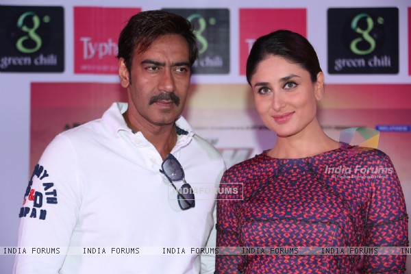 Ajay Devgn and Kareena Kapoor at the Press Conference of Singham Returns