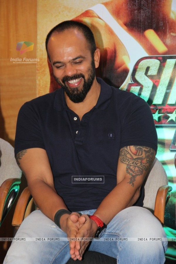 Rohit Shetty was spotted at the Promotions of Marathi Film Rege