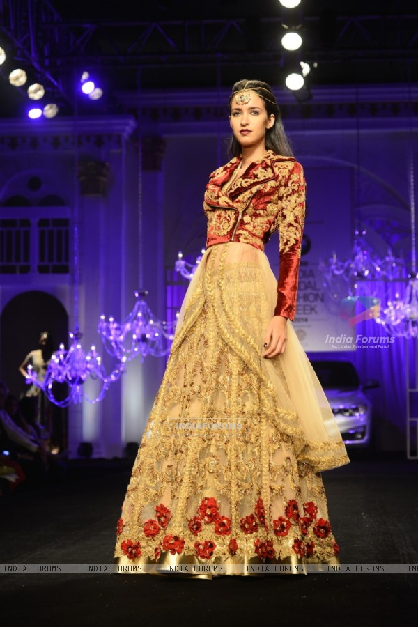 Model in Falguni & Shane Peacock's design at Indian Bridal Fashion Week Day 3