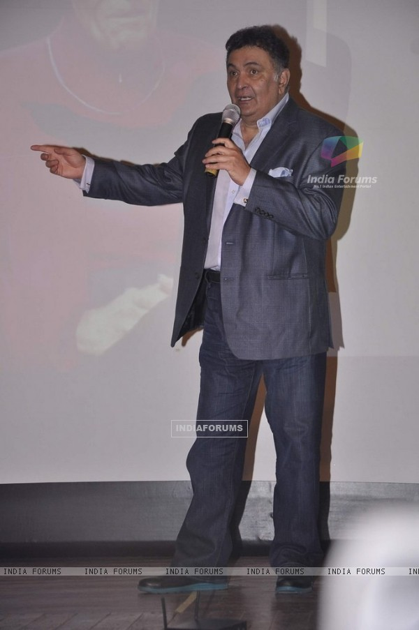 Rishi Kapoor addresses the audience at the Launch of RK Medical Guide