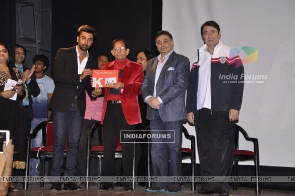 Ranbir Kapoor being felicitated at the Launch of RK Medical Guide