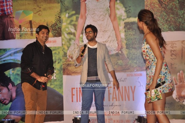 Fans perform for Deepika Padukone at the Song Launch of Finding Fanny